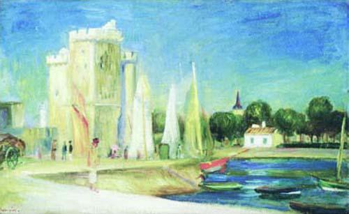 Port of Rochelle by Pierre Auguste Renoir