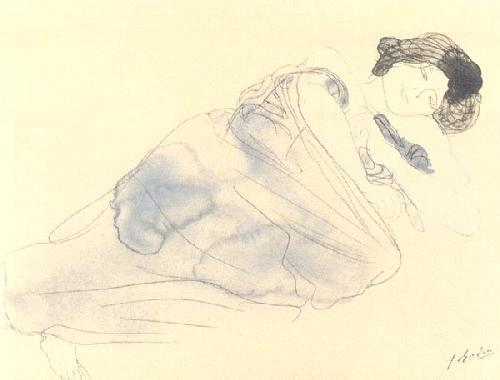 Vetue Woman Lying on her Side by Auguste Rodin