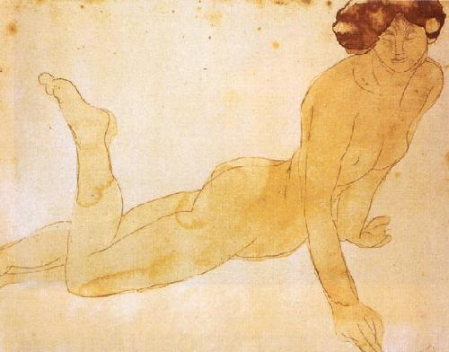 Naked Woman Lying On her Stomach by Auguste Rodin