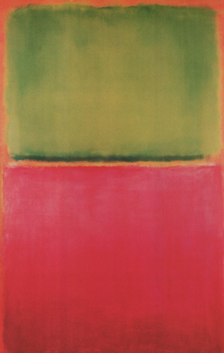 Green Red on Orange by Mark Rothko