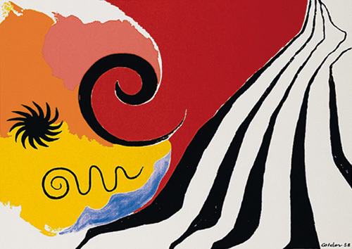 Pinwheel and flow, 1958 (Silkscreen print) by Alexander Calder