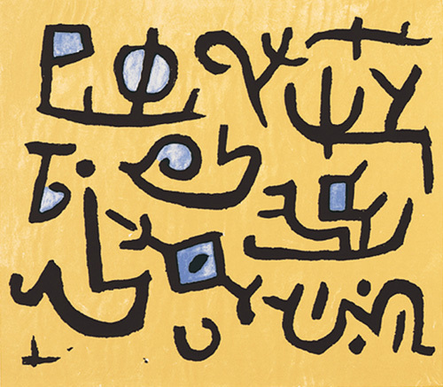 Schwimmfahiges, 1938 (Silkscreen print) by Paul Klee