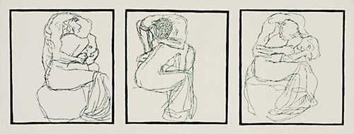 Love Couples, 1903 (Silkscreen print) by Gustav Klimt