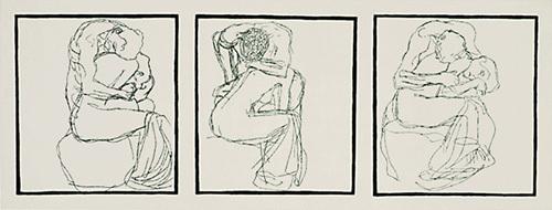 Love Couples, 1903 (Silkscreen print) by Gustav Klimt