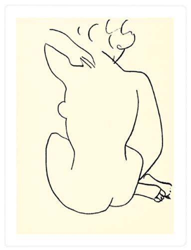 Naked, 1949 (Silkscreen print) by Henri Matisse