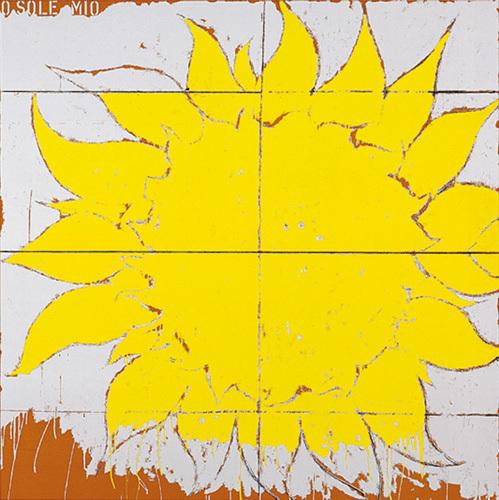 O Sole Mio, 1964 (Silkscreen print) by Mario Schifano