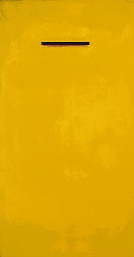 Untitled, yellow (Silkscreen print) by Jurgen Wegner