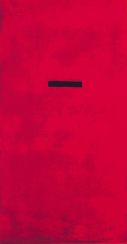 Untitled, red (Silkscreen print) by Jurgen Wegner