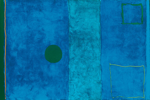 Blue painting (Silkscreen print) by Patrick Heron