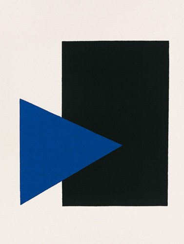 Black rectangle, blue triangle by Kazimir Malevich