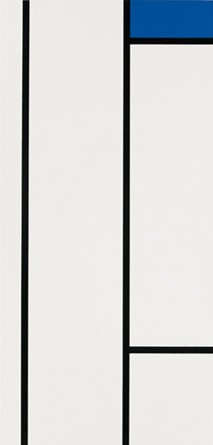 Composition (blanc et bleu) (Silkscreen print) by Piet Mondrian
