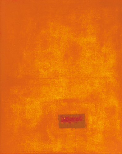 Untitled, 1991 (orange) (Silkscreen print) by Jurgen Wegner