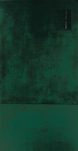 Untitled, 1991 (green) (Silkscreen print) by Jurgen Wegner