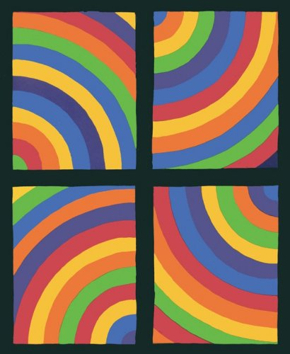 Color Arcs in four Directions, 1999 by Sol LeWitt