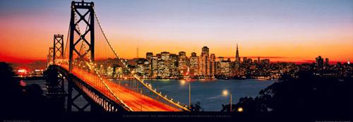 Bay Bridge with Skyline, San Francisco by Karalee Griffin