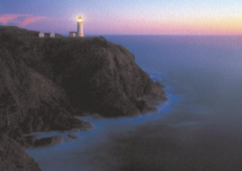 Lighthouse, Pacific Coast by R. Morley