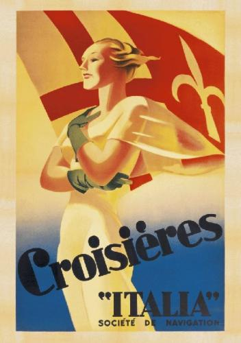 Crosieres Italia, c.1938 by Marcello Dudovich