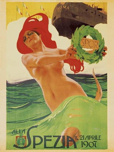 Varo Nave Roma, 1907 by Leopoldo Metlicovitz