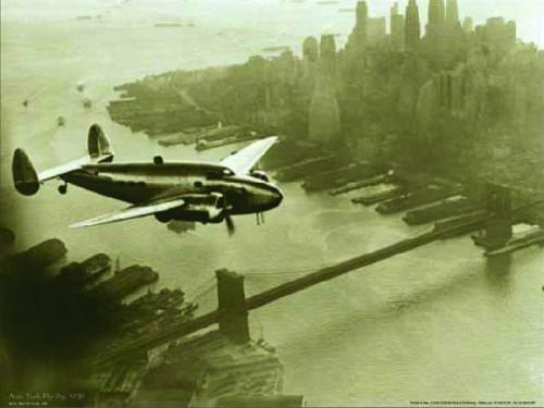 New York Fly-By, 1938 by B & W Collection