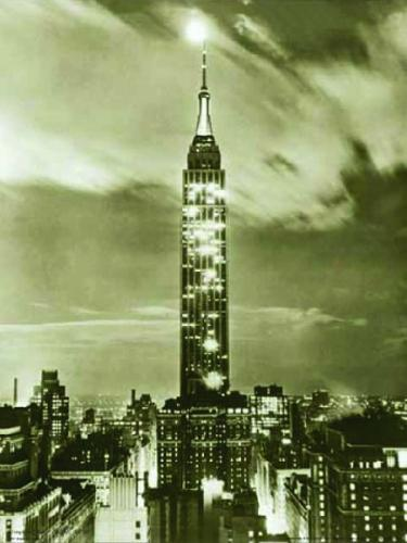Empire State Night, 1936 by B & W Collection