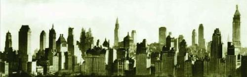 New York Skyline by B & W Collection