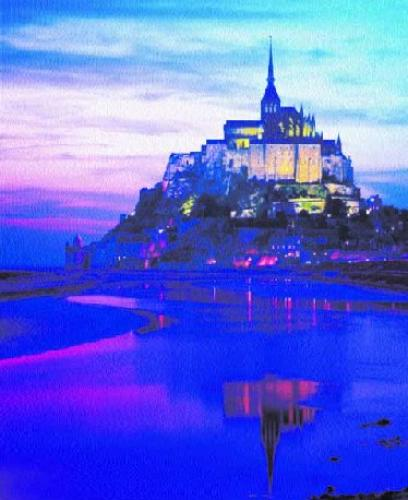 Mont St. Michel, France by Philip Enticknap