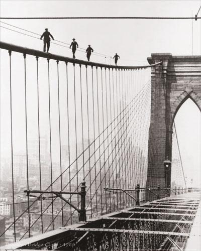 Brooklyn Bridge Climb, 1926 by B & W Collection