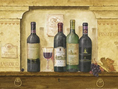 Bottles of Wine II by G.P. Mepas