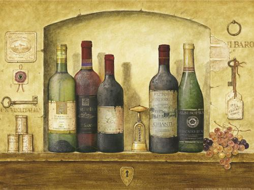 Bottles of Wine IV by G.P. Mepas