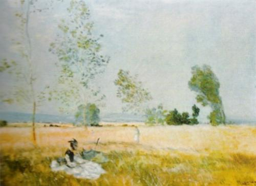 Springtime, near Argenteuil by Claude Monet