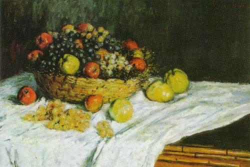 Still Life with Grapes and Apples, 1880 by Claude Monet