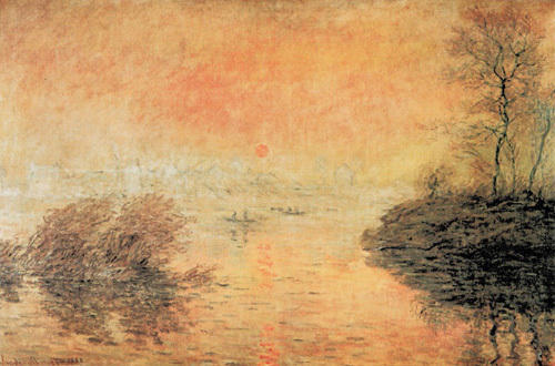 Sunset on the Seine, 1874 by Claude Monet