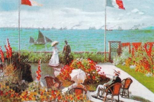 The Terrace at Sainte-Adresse, 1868 by Claude Monet