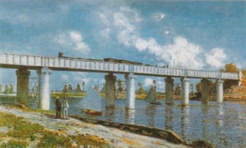 The Bridge by Claude Monet