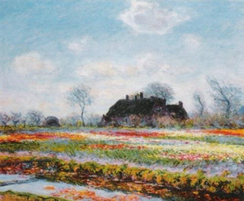Tulip Fields at Sassenheim by Claude Monet