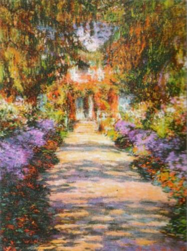 The Garden Path by Claude Monet