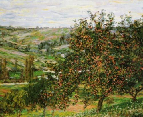 Apple Tree at Vetheuil, 1879 by Claude Monet