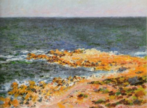 La Grande Bleue a Antibes, 1888 by Claude Monet