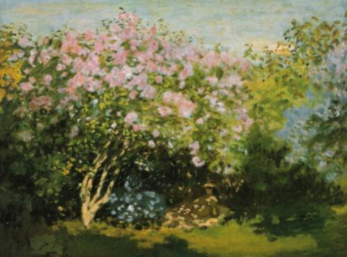 Blossoming Lilac in the Sun, 1873 by Claude Monet