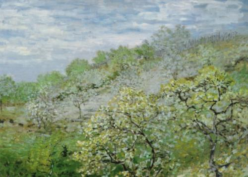 Trees in Bloom by Claude Monet