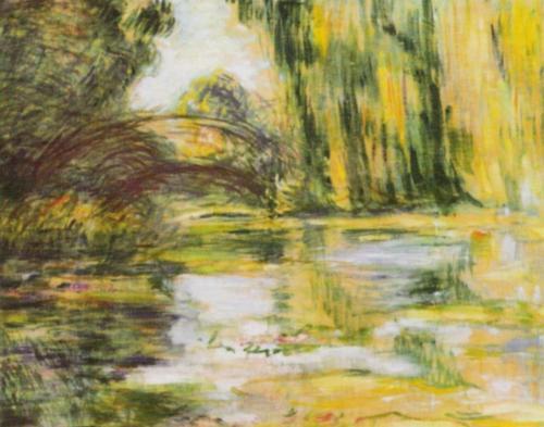 Waterlily Pond: The Bridge by Claude Monet