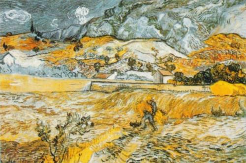 Landscape in St. Remy by Vincent Van Gogh