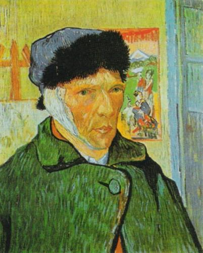 Self Portrait with Bandaged Ear (large) by Vincent Van Gogh