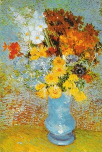 Vase with Daisies and Anemones, 1887 by Vincent Van Gogh