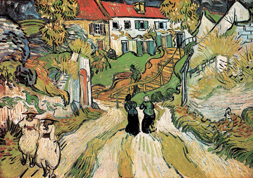 Stairway at Auvers by Vincent Van Gogh