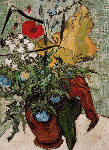 Vase of Flowers with Poppies by Vincent Van Gogh