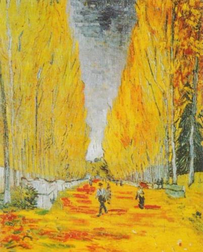 Allee des Alyscamps by Vincent Van Gogh