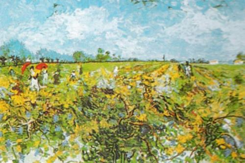 The Green Vineyard by Vincent Van Gogh