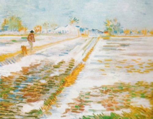 Snowy Landscape by Vincent Van Gogh
