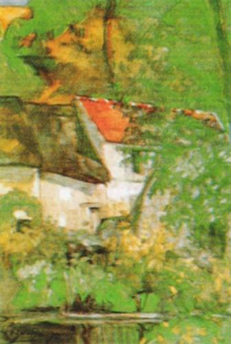 The House of Pere Lacroix at Auvers by Paul Cezanne